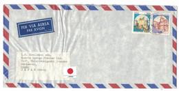NB10   Storia Postale 1986 - Castelli £.50 E £.1400 Su Lettera Via Aerea Da Milano Per Osaka Japan - - 1981-90: Marcophilia