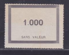 FRANCE FICTIF N°  F95 ** MNH Timbre Neuf Sans Charnière, Mais Papier Jauni - B - Phantomausgaben
