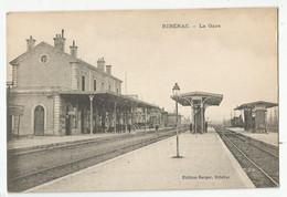 24 Dordogne Ribérac La Gare Intérieure Ed Berger - Riberac