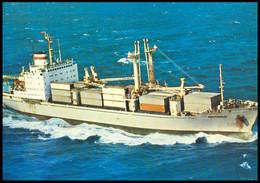 "RUSSIA POSTCARD Mint BALTIC SHIPPING Leningrad SHIP ""VARNEMUNDE"" CARGO BATEAU SCHIFF TRANSPORT BSCo K1 USSR - Commercio"