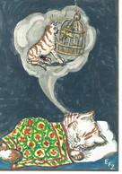 Chat   Dessin  Illustration Ziehlke - Gatti