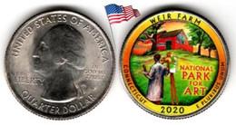 USA - Quarter Dollar - 2020 P (Weir Farm - Connecticut - Color) - 2010-...: National Parks