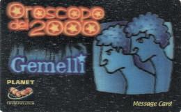 *ITALIA - PLANET COMMUNICATION* -  Scheda NUOVA (MINT) - Zodiaco