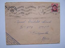 FRANCE ALGERIE FRANCAISE 4 Janvier 49 Enveloppe Cachets Philippeville-Constantine - Oblitérés