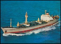 "RUSSIA POSTCARD Mint BALTIC SHIPPING Leningrad SHIP ""KOMMUNARSK"" CARGO BATEAU SCHIFF TRANSPORT BSCo K1 USSR - Commercio"
