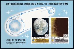 Sowjetunion  1969,  3710/11Block 60, MNH **, Weltraumforschung.  Space Research. - Blocs & Hojas