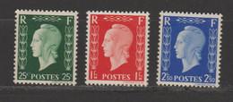 Série Non émise N°704D-701E-701F - 1944-45 Marianne Of Dulac