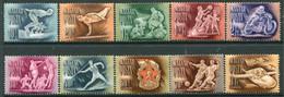 HUNGARY 1950 Sport  MNH / **.  Michel 1129-38 - Nuevos