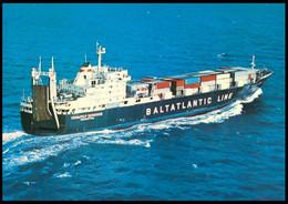 "RUSSIA POSTCARD Mint BALTIC SHIPPING Leningrad SHIP ""SKULPTOR KONENKOV"" CARGO BATEAU SCHIFF TRANSPORT BSCo K1 USSR - Commercio"