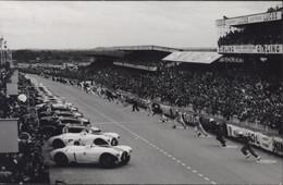 CP Carte Photo + Cachet Illustré 24 Heures Du Mans 12 13 Juin 1954 Départ De La Course YT 975 Automobile Auto - Le Mans