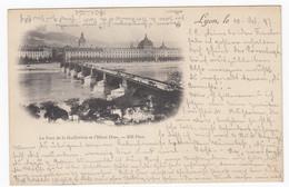 France Post Card Lyon Le Pont De La Guillotière Et L` Hotel Dieu With Train St Etienne  - Lyon To Augsburg 1897 - Sin Clasificación