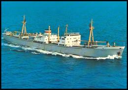 "RUSSIA POSTCARD Mint BALTIC SHIPPING Leningrad SHIP ""LGOV"" CARGO BATEAU SCHIFF TRANSPORT BSCo K1 USSR - Commercio"