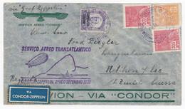 Brasil Air Mail Letter Bahia To Uetikon Switzerland Suisse By Zeppelin Servico Aero Tansatlantico Condor Zeppelin 1933 - Aéreo