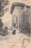 CARTOLINA  SALSOMAGGIORE TERME,PARMA,EMILIA ROMAGNA,ENTRATA PRINCIPALE ALLE TERME MAGNAGHI,VIAGGIATA 1921 - Parma