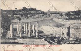CARTOLINA  SALSOMAGGIORE TERME,PARMA,EMILIA ROMAGNA,DINTORNI-CENTO POZZI,STORIA,CULTURA,MEMORIA,VIAGGIATA 1902 - Parma