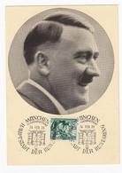 Ansichtskarte Adolf Hitler Sonderstempel Sonderpostamt München 24. Feb. 1939 Sudetenland - Hombres Políticos Y Militares