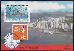 BIOT 1997 Used Sc #159a 65p Tiger Shark Sheet Hong Kong 97 - British Indian Ocean Territory (BIOT)