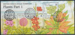 BIOT 2001 Used Sc #237 Plants Part 1 Sheet Of 5 - British Indian Ocean Territory (BIOT)