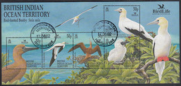 BIOT 2002 Used Sc #244 50p Red-footed Booby Sheet Of 5 Birdlife Int'l World Bird Festival - British Indian Ocean Territory (BIOT)