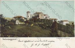 CARTOLINA  SALSOMAGGIORE TERME,PARMA,EMILIA ROMAGNA,CASTELLO DI SCIPIONE,STORIA,CULTURA,MEMORIA,VIAGGIATA - Parma