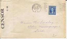 CANADA   Zensurbrief  Censored Cover 1939 Montreal To Sweden - Storia Postale