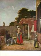 Art - Peinture - Pieter De Hooch - La Cour - Carte Neuve - CPM - Voir Scans Recto-Verso - Pittura & Quadri