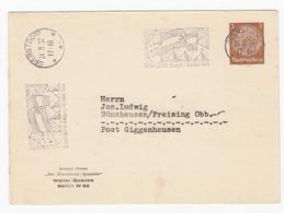 Ganzsache Privatpostkarte PP 122 B7/02 Werbestempel Schwäbische HJ-Lager/Bann 364 Oberstorf 1937 Sünzhausen Hitlerjugend - Cartas