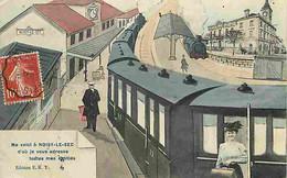 93 - Noisy Le Sec - Dessin - Gare - Train - CPA - Voir Scans Recto-Verso - Noisy Le Sec