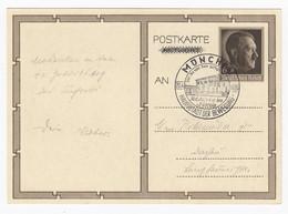 Ganzsache MiNr P 278 Geburtstag Adolf Hitler 1939 Sonderstempel München Nach Dachau - Enteros Postales