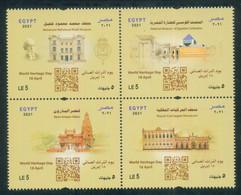 EGYPT / 2021 / BELGIUM / BARON EMPAIN PALACE / UN / WORLD HERITAGE DAY / ARCHEOLOGY / MNH / VF - Nuovi