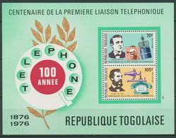 Togo 1976 100 Jahre Telefon Edison Bell Block 102 A Postfrisch (C28841) - Togo (1960-...)