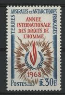 """TAAF N° 27 Cote 100 € Neuf ** (MNH) Qualité TB """"Année Internationale Des Droits De L'Homme"""". - Ongebruikt"""