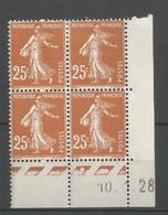 Coins Datés De France Neuf *  N 235  Année 1928  Charnière En Haut - ....-1929