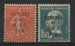N° 264 + 265 Neufs ** (MNH) Cote 55 €  CONGRES DU B. I. T. TB. - Unused Stamps