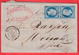 N°14 X2 PC 3440 TULLINS ISERE POUR MOIRANS - 1849-1876: Klassik