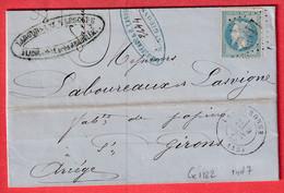 N°29 GC 1182 LA COURONNE POUR ST GIRONS ARIEGE INDICE 7 - 1849-1876: Klassik