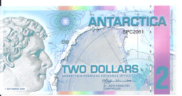 ANTARCTICA 2 DOLLARS 2008 Polymer UNC - Other - America