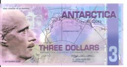 ANTARCTICA 3 DOLLARS 2008 Polymer UNC - Other - America