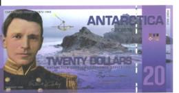ANTARCTICA 20 DOLLARS 2008 Polymer UNC - Other - America