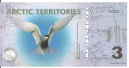 ARCTIC TERRITORIES 3 POLAR DOLLARS 2011 Polymer UNC - Other - America