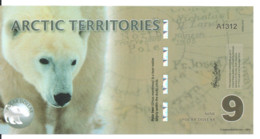 ARCTIC TERRITORIES 9 POLAR DOLLARS 2012 Polymer UNC - Other - America