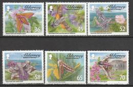 ALDERNEY : Aurigny - N°404/9 ** (2011) Papillons De Nuit - Alderney