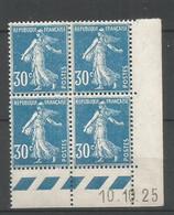 Coins Datés De France Neuf *  N 192  Année 1925  Charnière En Haut - ....-1929