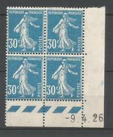 Coins Datés De France Neuf *  N 192  Année 1926  Charnière En Haut - ....-1929
