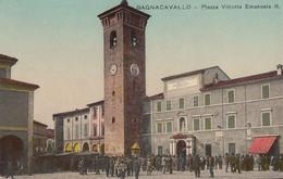 216 - Vintage 1921 - Italia Italy - Bagnacavallo Ravenna - Piazza Vittorio Emanuele II - Excellent Condition - 2 Scans - Ravenna