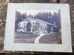 PHOTO Sur Plaque Cartonnée GERARDMER ( Chalet ) La Maison NOETINGER D'après Les écrits Au Dos à Vérifier - Places