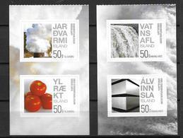 Islande 2012, N°1278/1281 Neufs énergies Vertes - Neufs