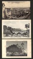 Conjunto 3 De Postais Antigos Do Distrito GUARDA + CASTELO BRANCO: Covilhan + Unhais Da Serra + Gouveia PORTUGAL - Braga