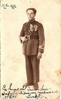 Sergent-chef, Tambour-major Safry, 1er Régiment De Tirailleurs Algériens, 1928-1932. Photo Dédicacée (13,5 X 8 Cm) - Regimientos