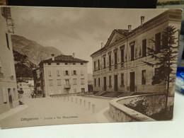 Cartolina Longarone Prov Belluno Scuole E Via Mezzaterra Primi Del Novecento - Belluno
